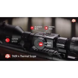 ATN ThOR 4, 640x480 Sensor, 4-40x Thermal Smart HD Rifle Scope w/WiFi, GPS